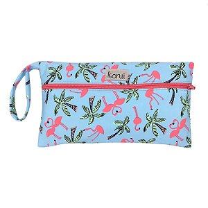 Bolsa Impermeável Pequena - Flamingos
