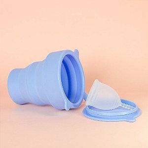 Kit Copo Esterilizador Lavanda + Coletor Menstrual