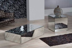 Conjunto Malibu (mesa De Centro + Mesa Lateral Espelhada)