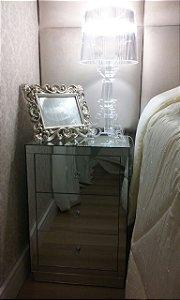 1 X Criado Mudo Turim  Espelhado - Altura 70 cm.