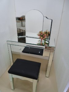 kit Penteadeira Camarim Espelho Lapidado para Closet