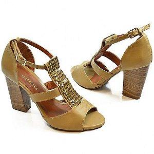 Sandália Salto Grosso com Spikes