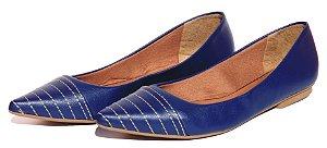 Sapatilha Bico Fino Azul Maria Clara
