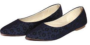 Sapatilha Bico Fino Azul Yasmin V Shoes
