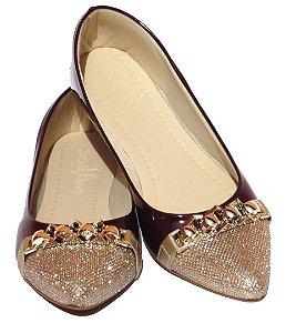 Sapatilha Bico Fino Yasmin V Shoes Bordo