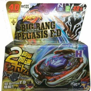 Beyblade Metal Fusion 4D - Big Bang Pegasis (BB105) Original Rapidity