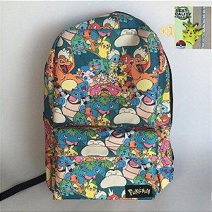 Mochila Escolar Infantil Pokemon Go Sem Rodinhas Tam M