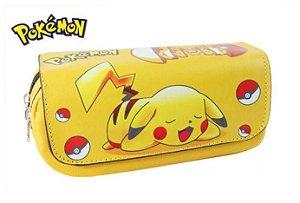 Estojo Pokemon Pikachú + 5 Lápis Grátis Pikachú