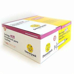 Seringa descartável para insulina 1 ml (caixa com 100)