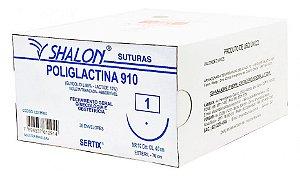 Fio de sutura cirúrgica Poliglactina SHALON (Venda por unidade)