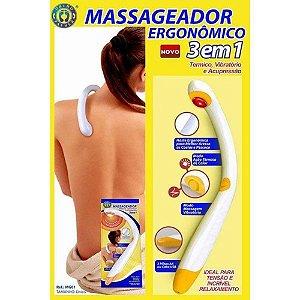 Massageador Térmico e Vibratório Ergonômico 3 em 1 - Ortho Pauher