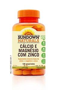 Cálcio Magnésio e Zinco (100 Comprimidos) - Sundown