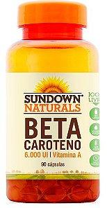 Betacaroteno 6000 UI (90 Cápsulas) - Sundown
