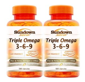 COMBO - 2x Triple (Omega 3-6-9) 120 Cápsulas - Sundown