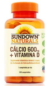 Cálcio 600mg + D3 (120 Comprimidos) - Sundown