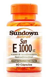 Sun E - 1000 UI (Vitamina E) 50 Cápsulas - Sundown