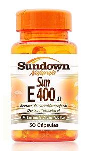Sun E - 400 UI (Vitamina E) 30 Cápsulas - Sundown