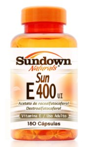 Sun E - 400 UI (Vitamina E) 180 Cápsulas - Sundown