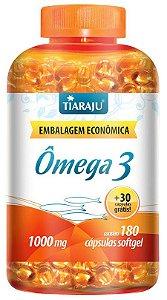 Ômega 3 1000 mg (180 Cápsulas) - Tiaraju