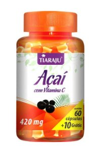 Açaí com Vitamina C (60 Cápsulas) - Tiaraju