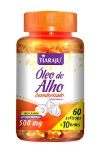 Óleo de Alho Desodorizado 500 mg (60 Cápsulas) - Tiaraju