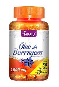 Óleo de Borragem 1000 mg (30 Cápsulas) - Tiaraju
