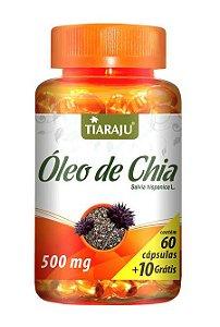 Óleo de Chia 500 mg (60 Cápsulas) - Tiaraju