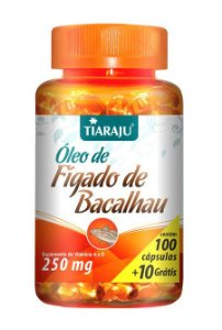 Óleo de Fígado de Bacalhau (100 Cápsulas) - Tiaraju