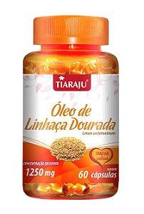 Óleo de Linhaça Dourada 1250 mg (60 Cápsulas) - Tiaraju