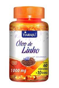 Óleo de Linho 1000mg (60 Cápsulas) - Tiaraju