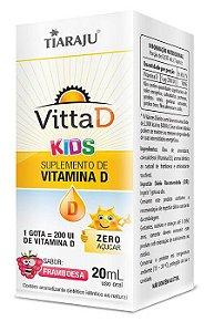 VittaD Kids (20 mL) Sabor Framboesa - Tiaraju