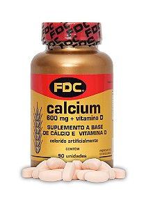Cálcio 600mg + Vitamina D (90 Comprimidos) - FDC