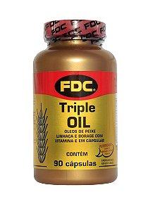 Triple Oil (Omega 3 6 9) 90 Cápsulas - FDC