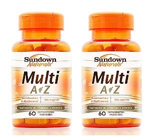 COMBO - 2x Multi AZ (Multivitamínico) 60 comprimidos - Sundown