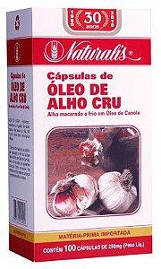 Óleo de Alho Cru - 100 Cápsulas - Naturalis
