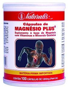 Magnésio Plus - 100 Cápsulas - Naturalis