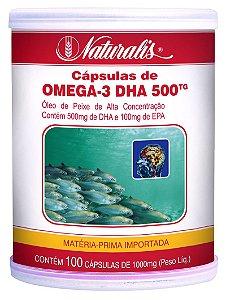 Omega 3 DHA 500 - 100 Cápsulas - Naturalis