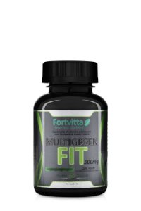 MultiGreen Fit (500MG) - 60 Cápsulas - Fortvitta