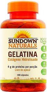 Gelatina (Colágeno Hidrolisado) 100 Cápsulas - Sundown
