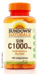 Sun C 1000mg (Vitamina C) 180 Tabletes - Sundown