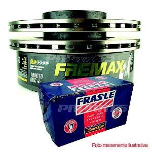 Kit Par Discos Fremax + Pastilhas Frasle Dianteira Gol G5 2008 Até 2015