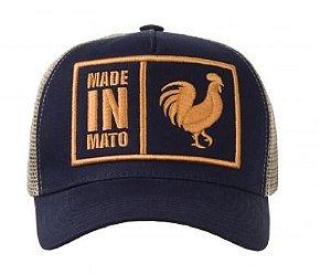 Boné Made in Mato Trucker Marinho Original