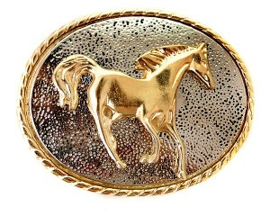 Fivela Country  Cavalo Dourado
