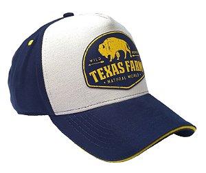 Boné Country Texas Farm Búfalo Amarelo