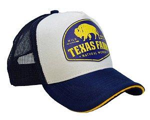 Boné Infantil Texas Farm Búfalo Amarelo
