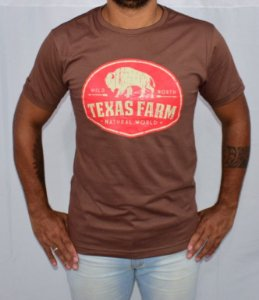 Camisa Texas Farm Natural Word