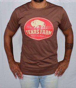 Camisa Texas Farm Natural Word