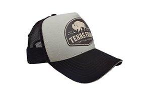 Boné Country Texas Farm  Búfalo Marrom