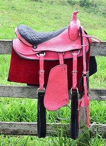 Sela Americana Tradicional Rosa Kit Completo