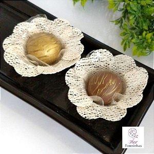 50 Forminhas Rustica Natural Flor Pessego - F013